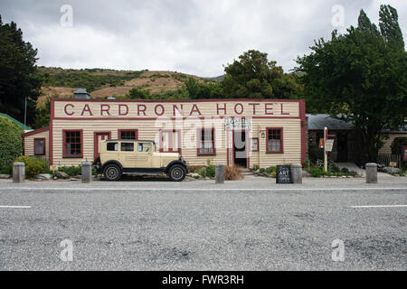 WANAKA, Nouvelle-zélande - JAN 7, 2016: Hôtel Cardrona historique construit en 1863 près de la ville de Wanaka, Banque D'Images