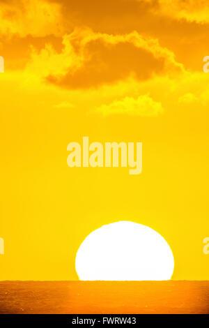 Coucher de soleil sur Maui Banque D'Images