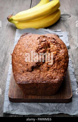 Pain aux bananes, pain sucré de style Banque D'Images