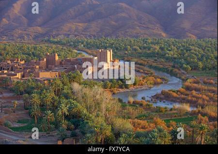 Le Maroc, l'Ait Hamou ou dit Kasbah, Draa Banque D'Images
