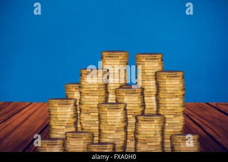 Image composite de pièces d'or Banque D'Images