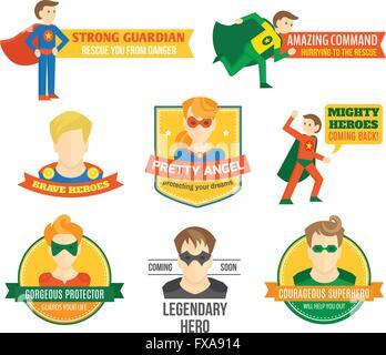 Étiquette de super-héros Banque D'Images