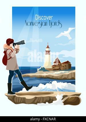 Background Illustration Seascape Banque D'Images