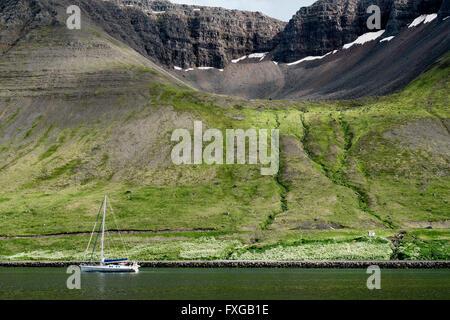 Paysage pittoresque près de Reykjavik en Islande. Banque D'Images
