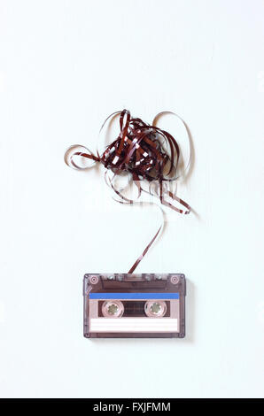Cassette audio à bande soustrait Banque D'Images