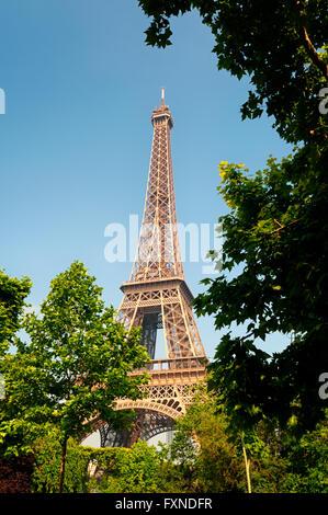 La Tour Eiffel, Paris, France. Banque D'Images
