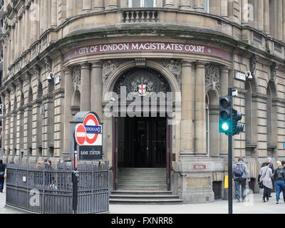 Une vue de face de la ville de London Magistrates Court à Londres Banque D'Images