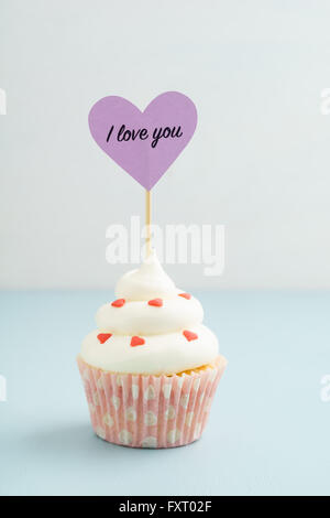 Valentines Day cupcake Banque D'Images