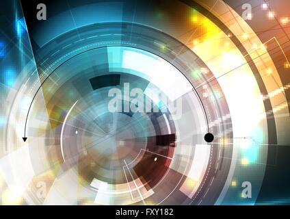 La technologie de l'avenir scientifique. Pour la présentation d'affaires. Flyer, affiche Vector Background Concept Banque D'Images