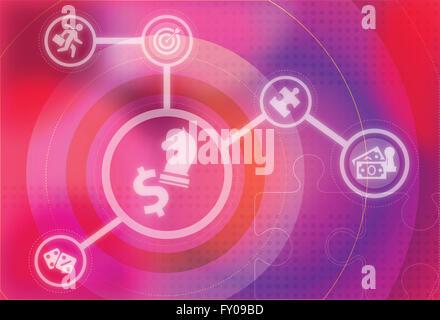 Image d'illustration représente les concepts de stratégie d'entreprise et concours Banque D'Images