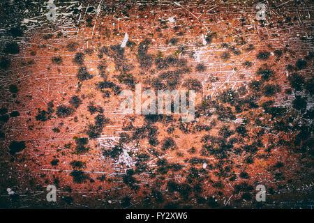 Old rusty metal plate pour le fond Banque D'Images