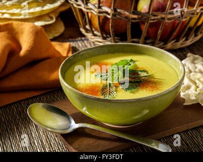 Soupe de pommes au Curry