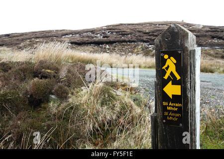 Balade signe sur Arranmore, comté de Donegal. Banque D'Images