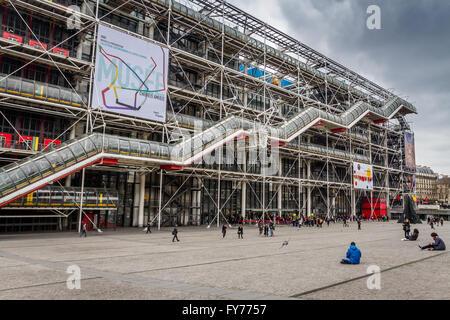 Centre George Pompidou, Les Halles, Paris, France Banque D'Images