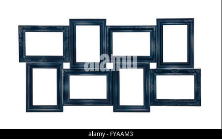 Photo photo frame de couleur bleu