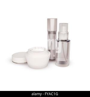 Soins de la peau. Tous les jours, soins de beauté cosmétique. Banque D'Images