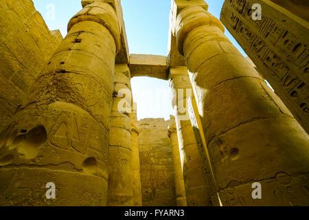 L'Égypte, de la Haute Égypte, vallée du Nil, Luxor Temple UNESCO World Heritage Banque D'Images