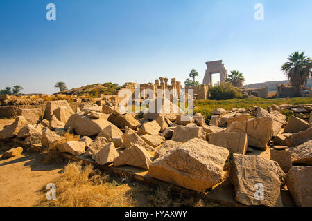 Temple de Karnak, Louxor, Egypte, Afrique du Sud Banque D'Images