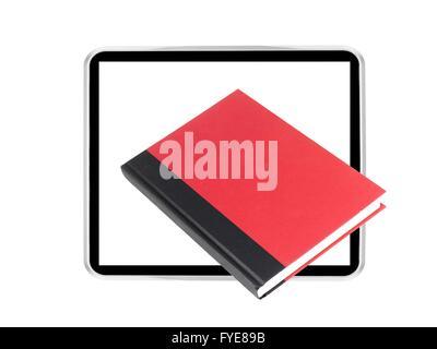 Une image conceptuelle d'un lecteur de livre électronique moderne Banque D'Images