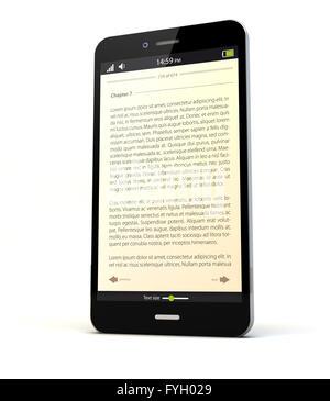 Un rendu avec smartphone app livre à l'écran Banque D'Images