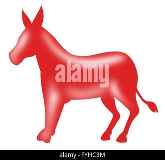 Mascotte âne démocrate
