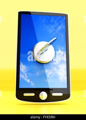 Smartphone verrouillé Banque D'Images