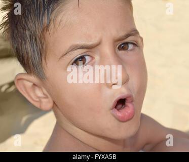 Enfant en colère Banque D'Images