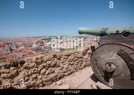 L'Europe, Portugal, Lisbonne, l'Alfama, le château Sao Jorge Banque D'Images