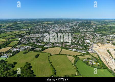 Général vues aériennes de la ville de Truro Cornouailles Banque D'Images