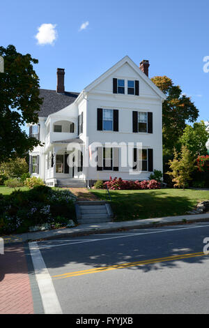 Maison typique dans le Maine, la Nouvelle Angleterre, une partie de l'United States Banque D'Images