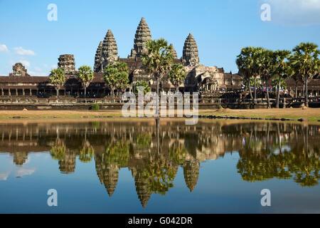 Angkor Wat temple Complex (12ème siècle), site du patrimoine mondial d'Angkor, Siem Reap, Cambodge Banque D'Images
