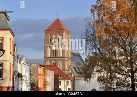 L'église St Nikolai, Beginenberg, vieille ville, Rostock, Mecklenburg-Vorpommern, Allemagne Banque D'Images
