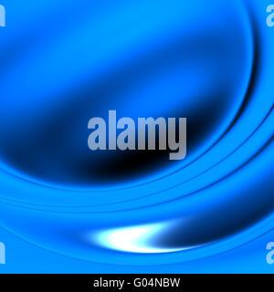 Vagues abstraites, débordant les teintes de couleur bleu Banque D'Images