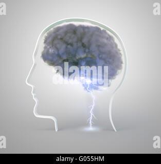 La réflexion et la créativité concept illustration Banque D'Images