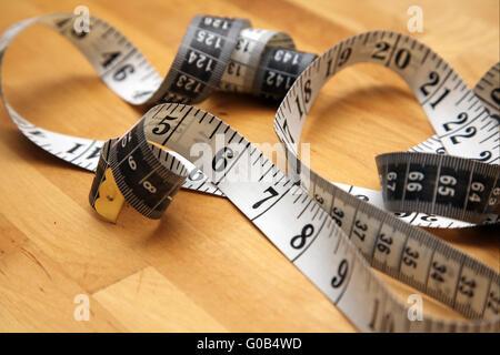 un ruban à mesurer Banque D'Images