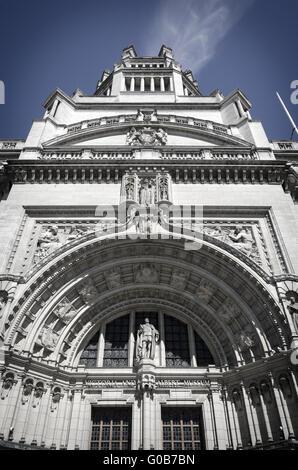Entrée principale du Victoria and Albert Museum Banque D'Images