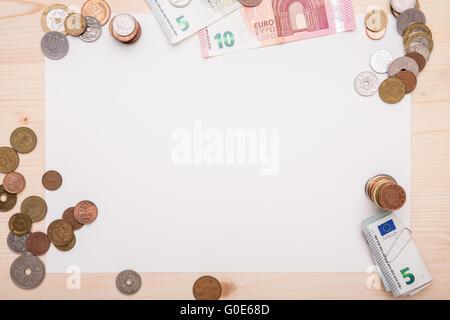 Pièces différentes, disposés autour d'un morceau de Banque D'Images