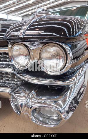 Les feux avant de Cadillac Coupe de Ville 1959, National Hot Rod Show, A&P Showground, Christchurch, Canterbury, Banque D'Images