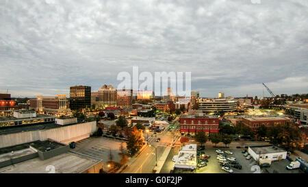Vue aérienne de Greenville en Caroline du Sud skyline cityscape Banque D'Images