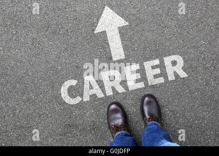 Objectifs de carrière et succès d'affaires business man concept développement Banque D'Images