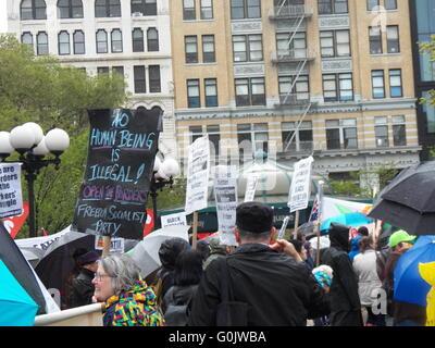 New York, NY, USA-1er mai 2016-Mayday rassemblement à Union Square à New York City- Crédit: Mark Apollo/Alamy Live Banque D'Images