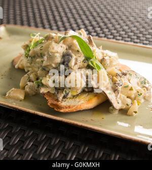 L'artichaut et champignons shitake fricasse