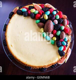 Délicieux gâteau au fromage frais fait maison Banque D'Images