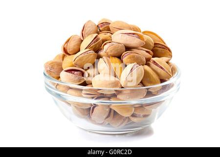 Tas de pistaches dans un bol en verre Banque D'Images