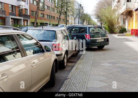 Mauvais parking à Berlin Banque D'Images