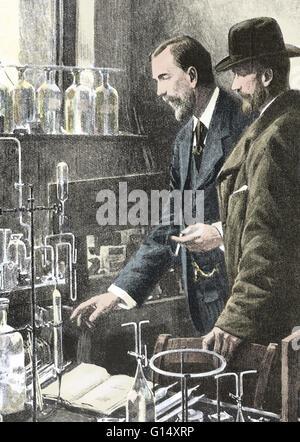 Pierre Curie (1859-1906) était un physicien français, pionnier de la cristallographie, magnétisme, piézo-électricité Banque D'Images
