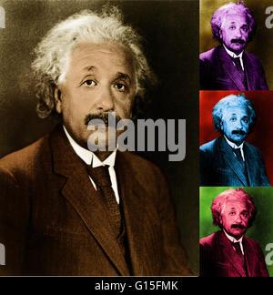 Albert Einstein (14 mars 1879 - 18 avril 1955) était un physicien théoricien américain d'origine allemande qui a Banque D'Images