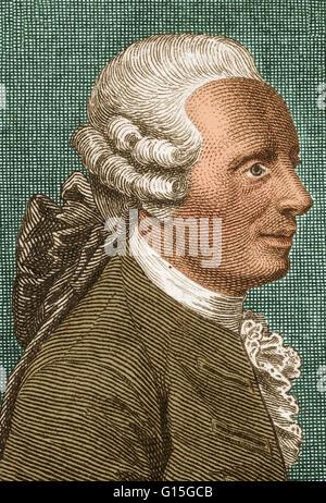 Jean-Baptiste le Rond d'Alembert (16 novembre 1717 - Le 29 octobre 1783) était un mathématicien français, scientifique Banque D'Images
