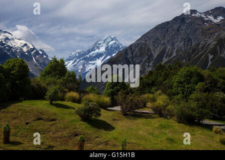 Parc Aoraki/Mount Cook National Park, UNESCO World Heritage Site, Alpes du Sud, Canterbury, île du Sud, Nouvelle Banque D'Images