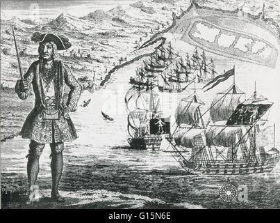 Bartholomew Roberts (1682-1722) était un pirate qui ont attaqué des navires au large du nord et l'Afrique de l'Ouest Banque D'Images